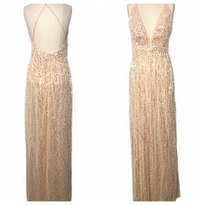 Lulu's Dresses - Lulus Jane Ann Blush Pink Sequin Maxi Dress NEW